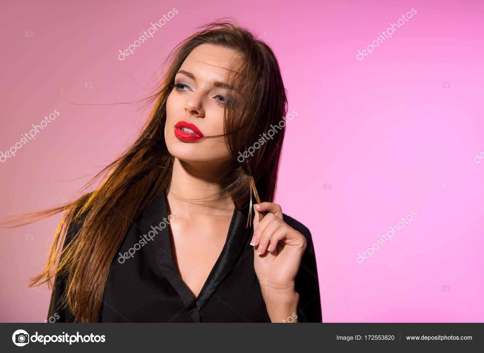 564743f7e90cbf Стильна дівчина гарна — Стокове фото — Красивий © AllaSerebrina ...