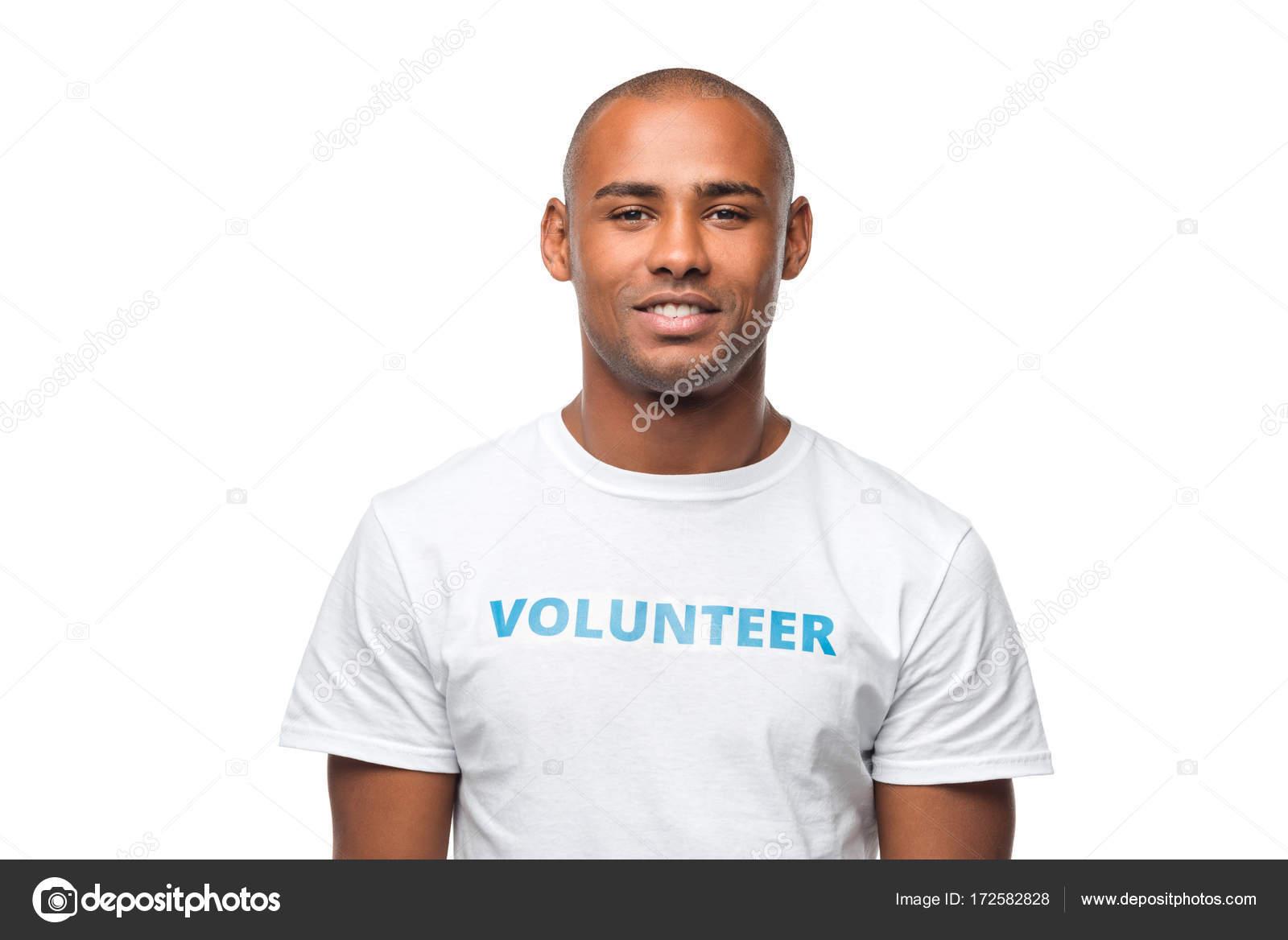 アフリカ系アメリカ人ボランティア — ストック写真