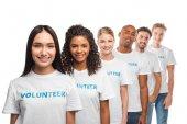 multiethnische Gruppe von Freiwilligen