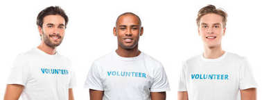 young handsome volunteers