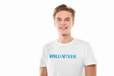 handsome young volunteer