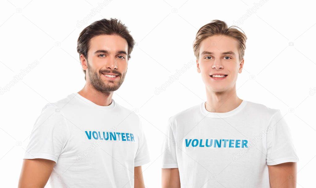 young handsome volunteers