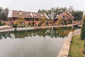 Fotografie Rybník a krajinu chalupy