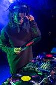 club DJ with vinyl