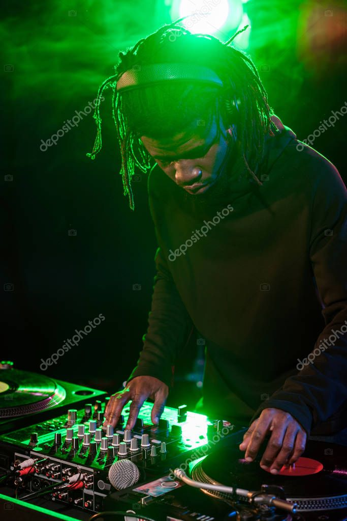 professional african american DJ