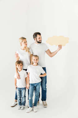 family with speech bubble