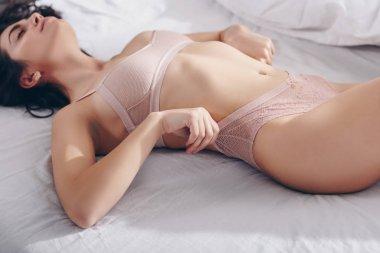 girl in pink underwear