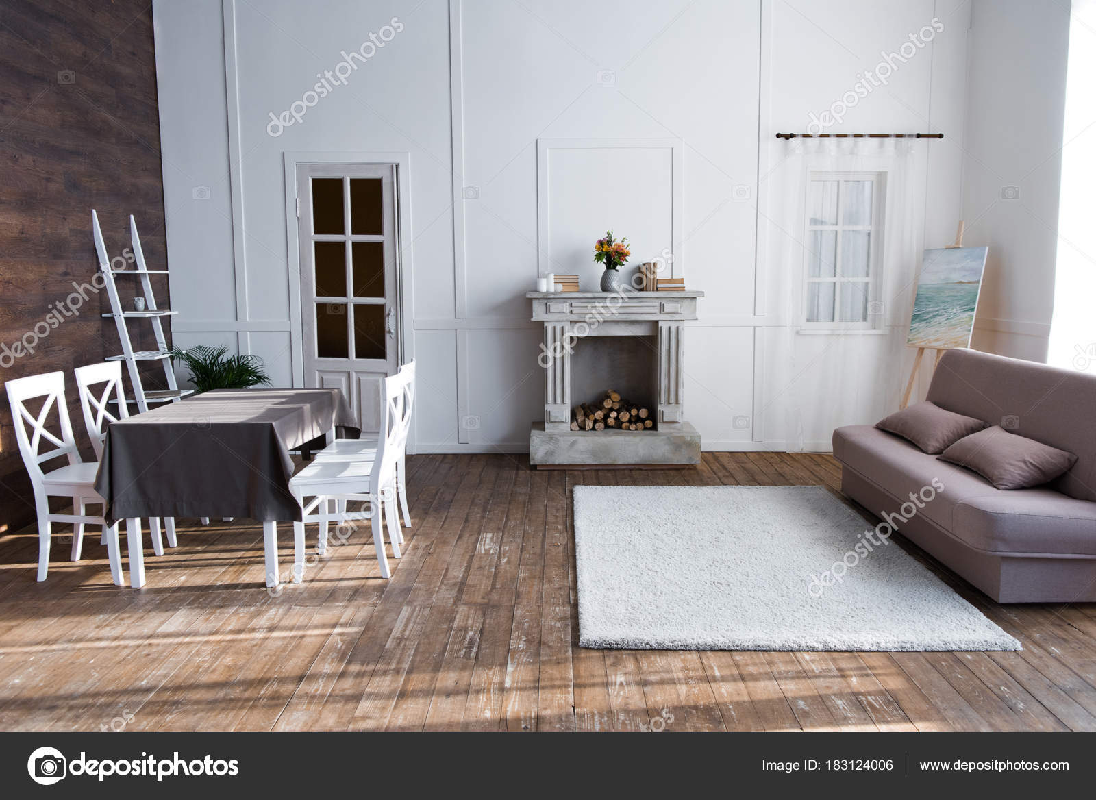 Ansprechend Gemütliches Wohnzimmer Sammlung Von Gemütliches Interieur Mit Stilvollen Möbeln — Foto