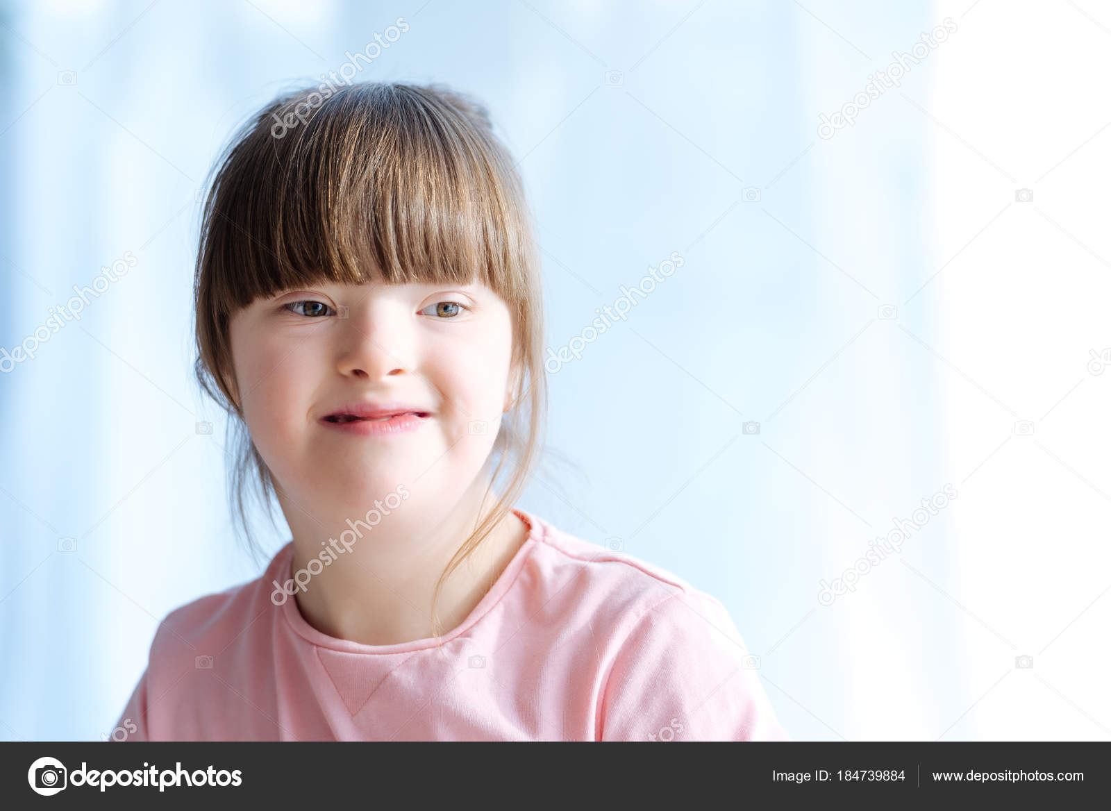 portrait cute kid syndrome — stock photo © allaserebrina #184739884