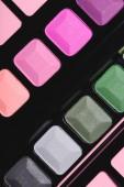 Fotografie full frame shot of various makeup eyeshadows palette