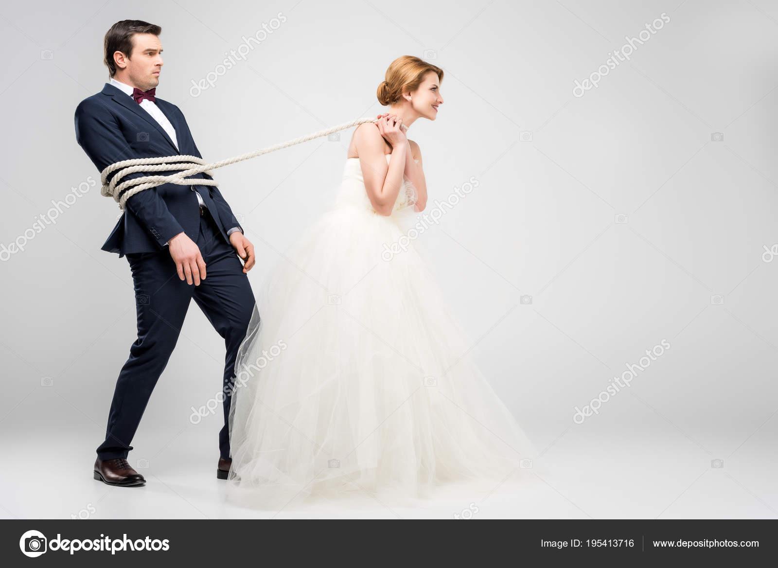 Vestidos de novia y el novio