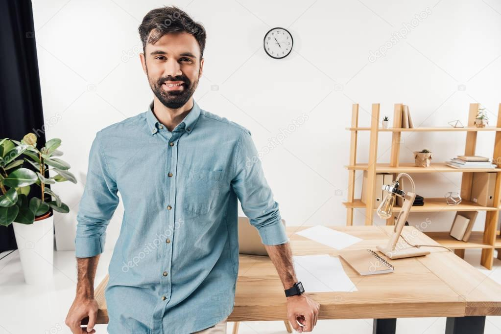 businessman at workplace in office