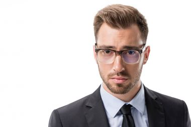 young businessman in eyeglasses