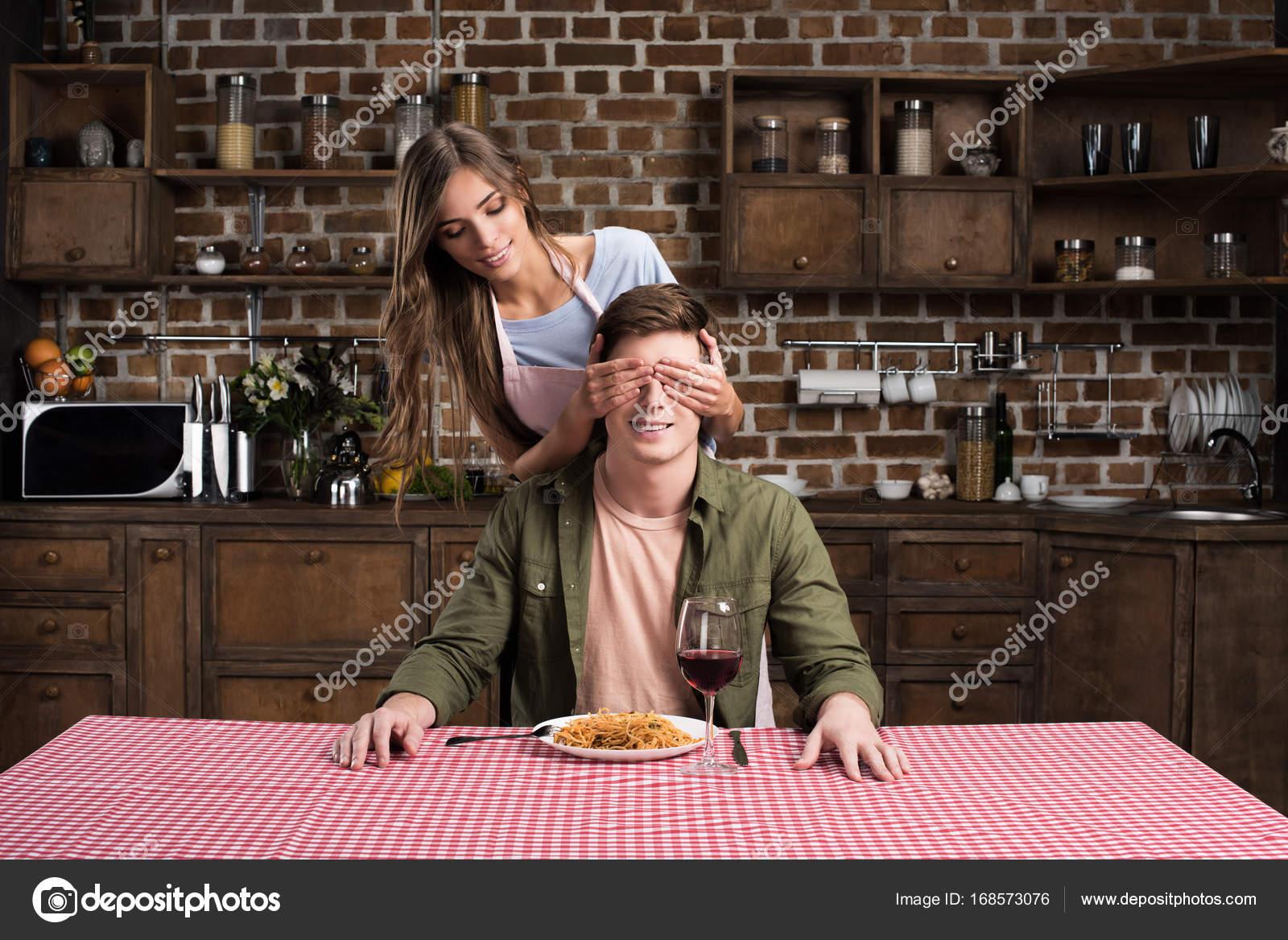making dinner for boyfriend