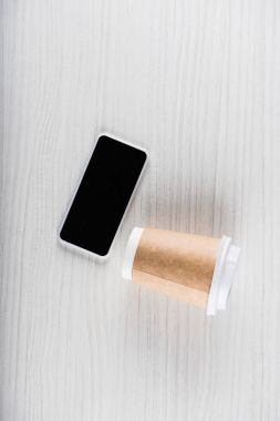 smartphone and disposable cup