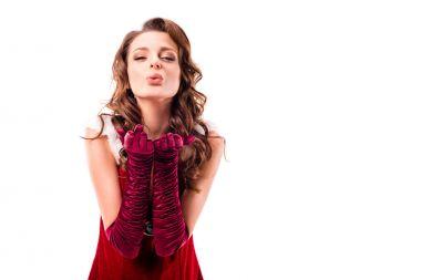 santa girl blowing kiss