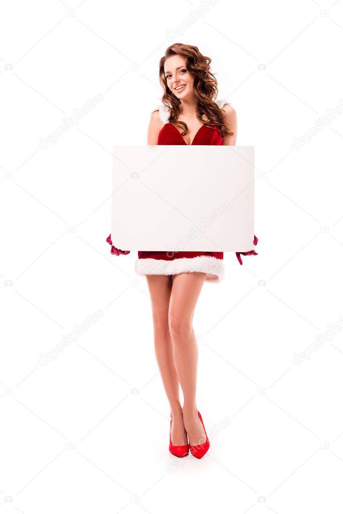 santa girl with empty board