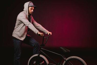bmx cyclist with bike