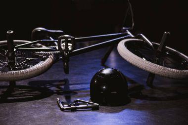 bmx bicycle and helmet