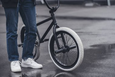 boy with bmx bicycle