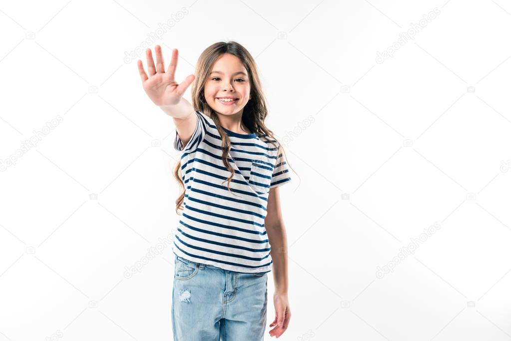 kid giving high five