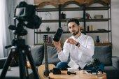 technológia blogger felvétel új vlog arról virtuális-valóság sisak