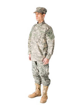 Handsome army soldier wearing uniform isolated on white