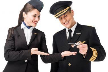 stewardess and pilot