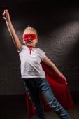 repülő piros szuperhős maszk női gyermek