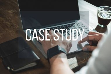 Man doing case study