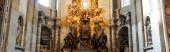 VATICAN CITY, OLASZORSZÁG - Április 10, 2020: panorámás belső tér az ókori Szent Péter bazilika
