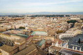 piazza San Pietro with old and historical buildings in Vatican City