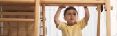 panorámás termés imádnivaló gyermek gyakorló otthoni tornaterem