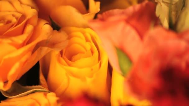 růže kytice spřádání zblízka