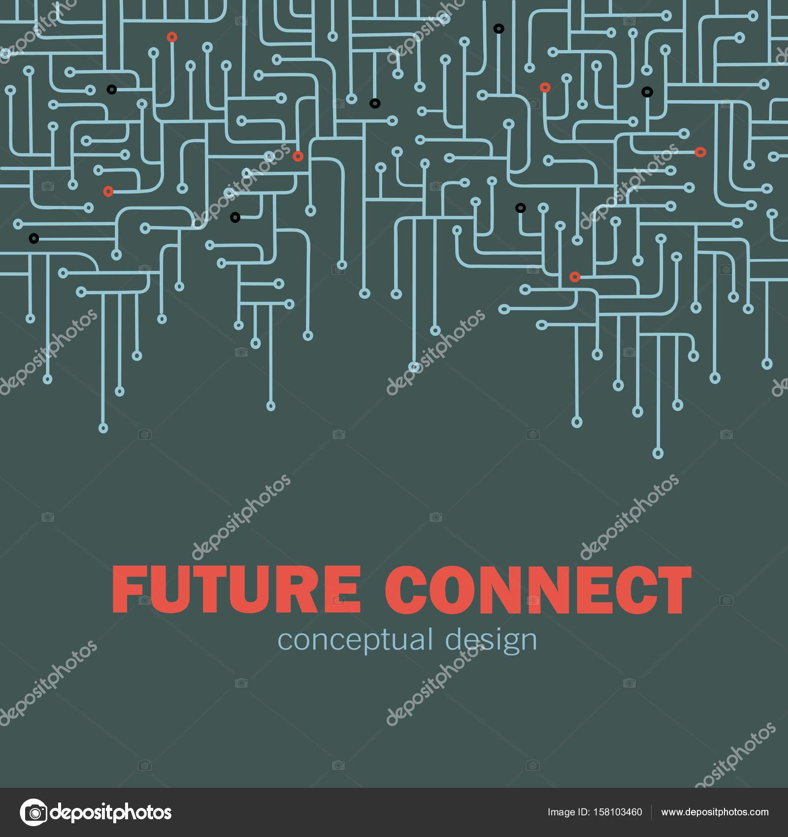 electronic circuit background spu circuit lines design future