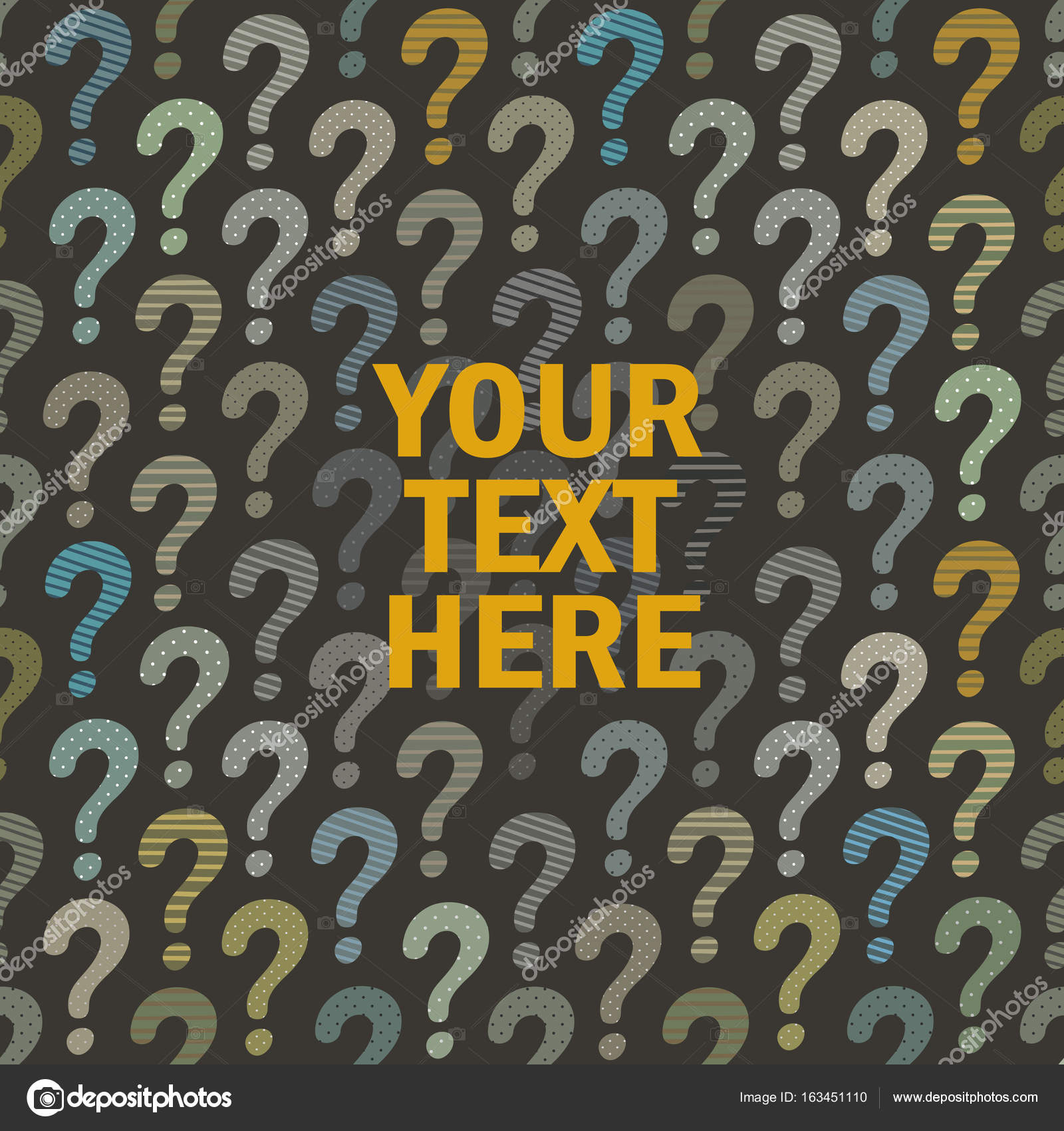 question mark background with place for your text or logo — Stock ...
