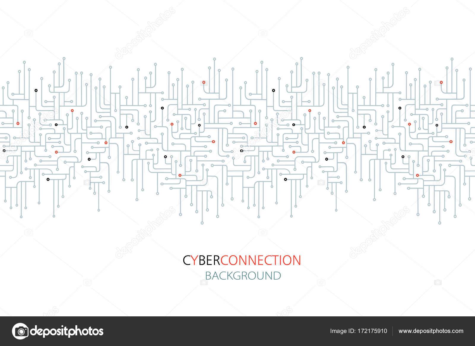 Cyber-Verbindung elektronische Schaltung Hintergrund. SPU. Schaltung ...