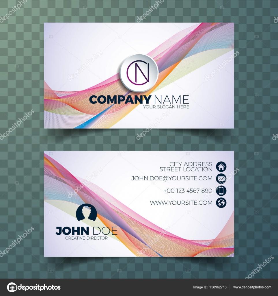Vector Modern Business Card Design Template On Clean Background - Modern business card design templates