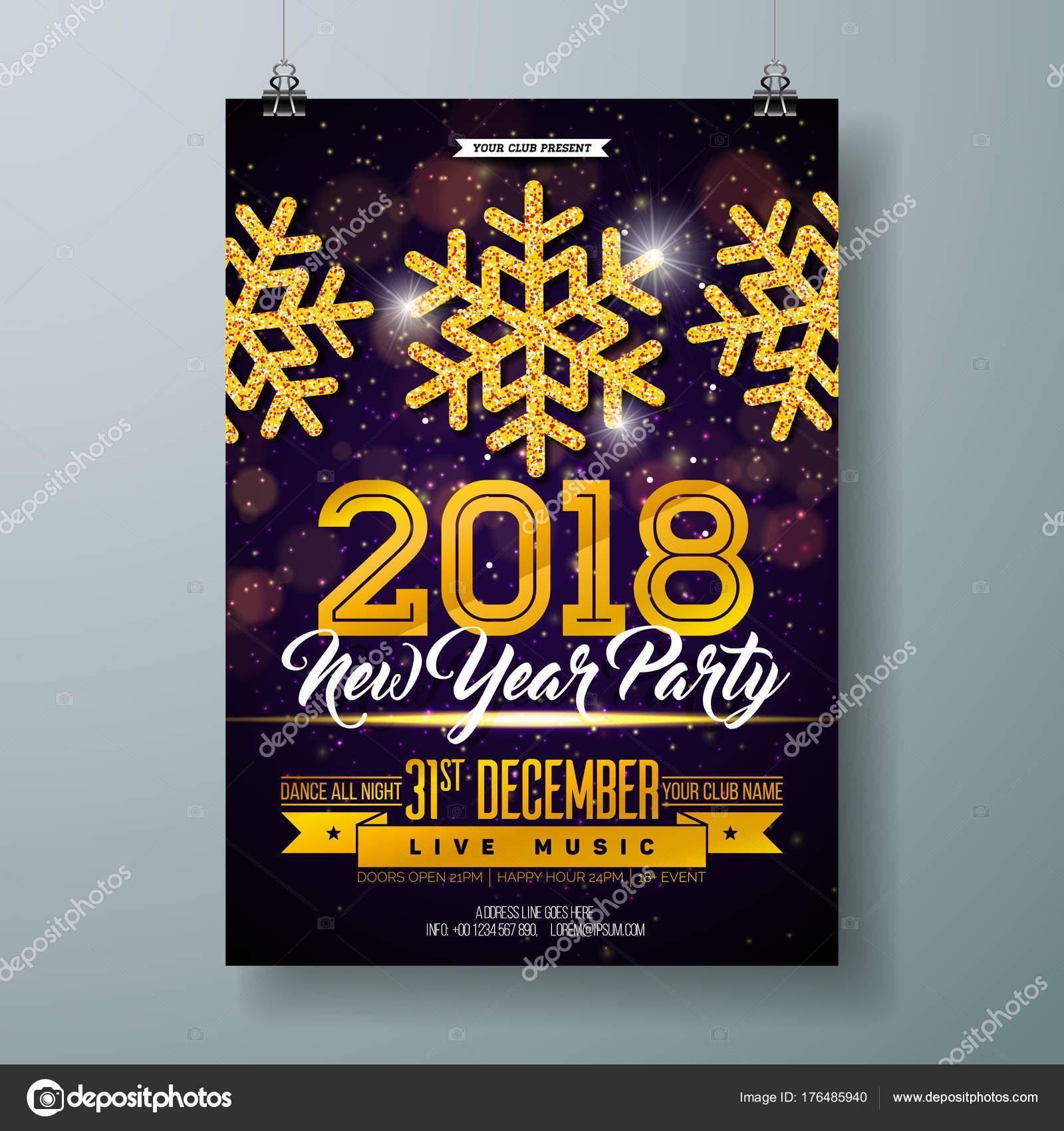 silvester party feier plakat vorlage abbildung 3d 2018. Black Bedroom Furniture Sets. Home Design Ideas