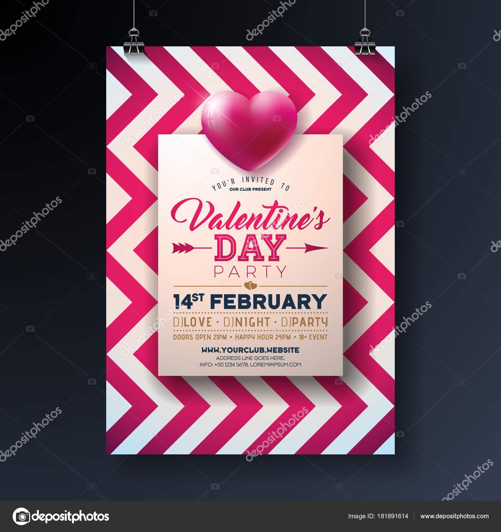 タイポグラフィ レターと赤の抽象的な背景心バレンタインデー パーティー