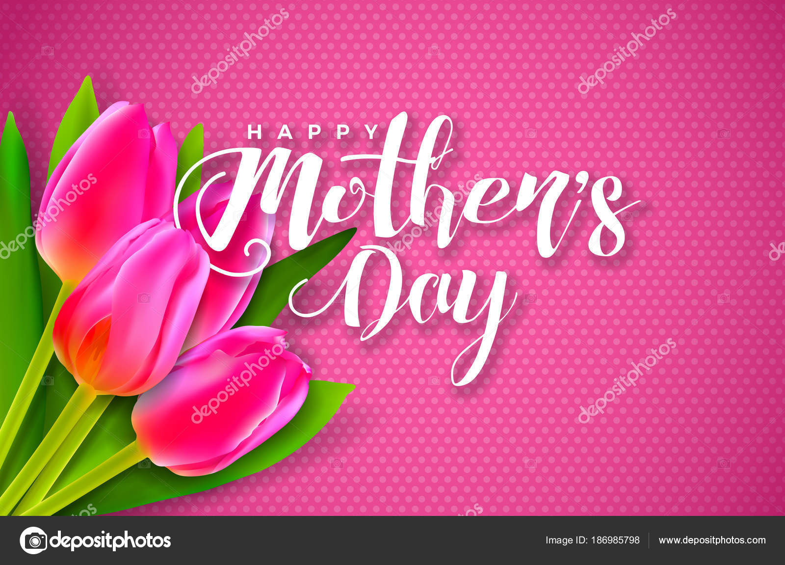 Happy mothers day greeting card with flower on pink background happy mothers day greeting card with flower on pink background vector celebration illustration template with kristyandbryce Image collections