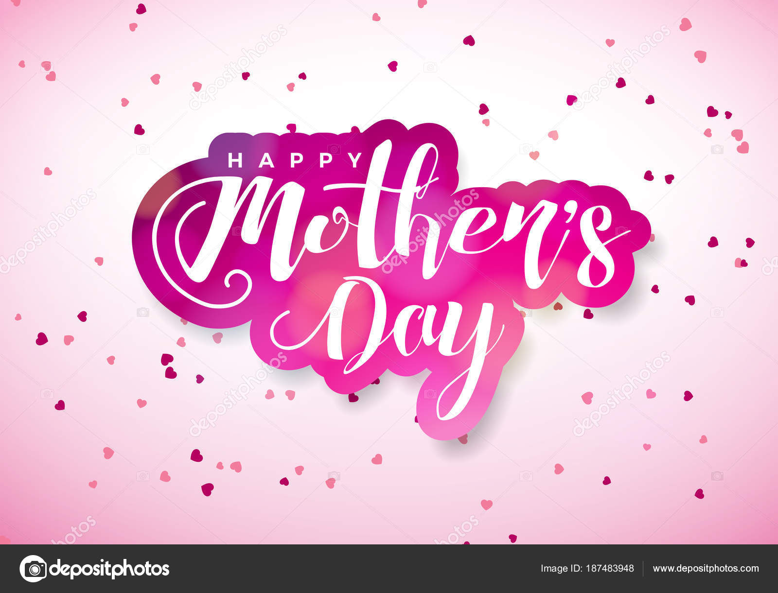 Glückliche Mütter Tag Grußkarte mit Feuerstelle und typografische ...