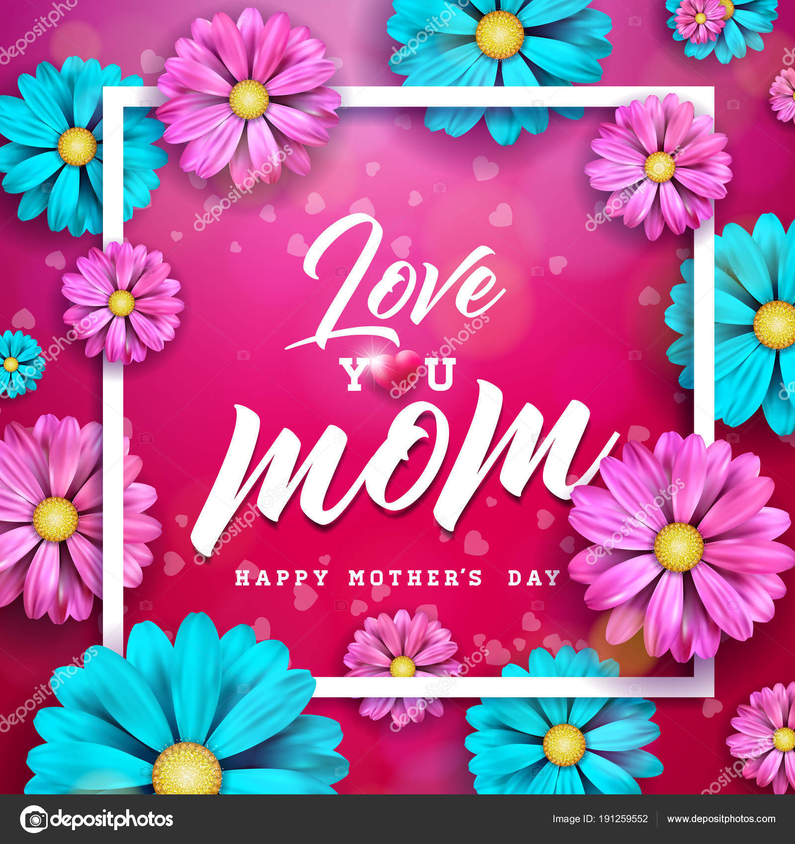 Happy mothers day greeting card design with flower and typographic happy mothers day greeting card design with flower and typographic elements on red background i m4hsunfo