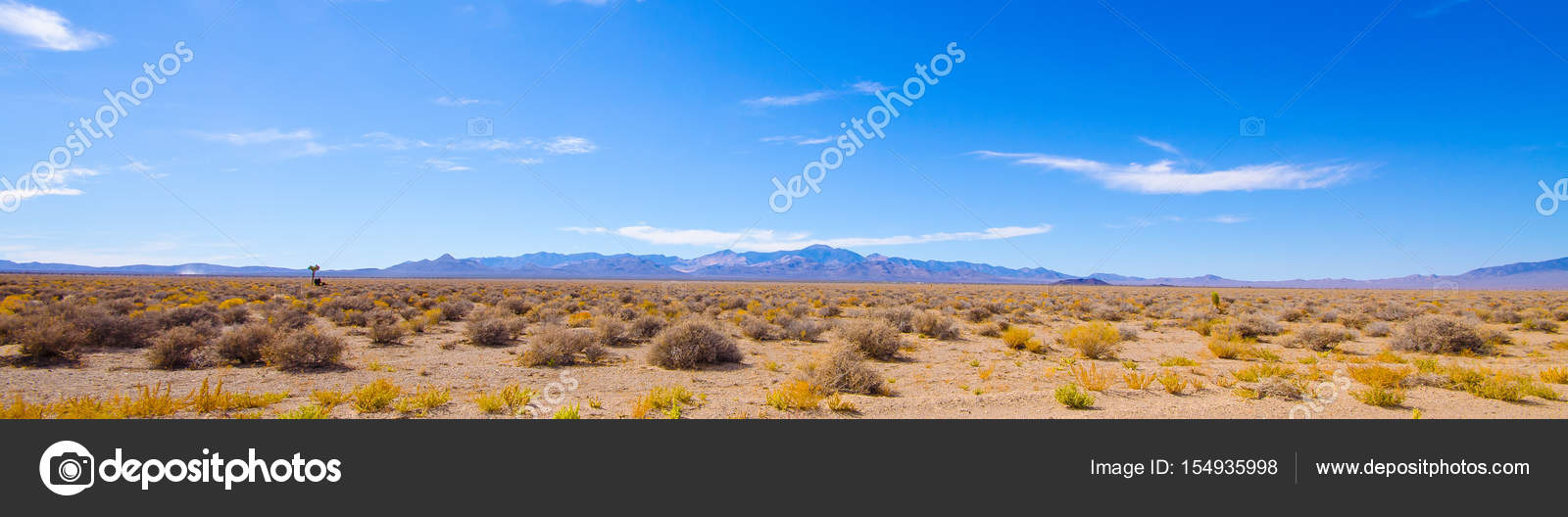 Desert panorama near Area 51 — Stock Photo © tristanbnz #154935998