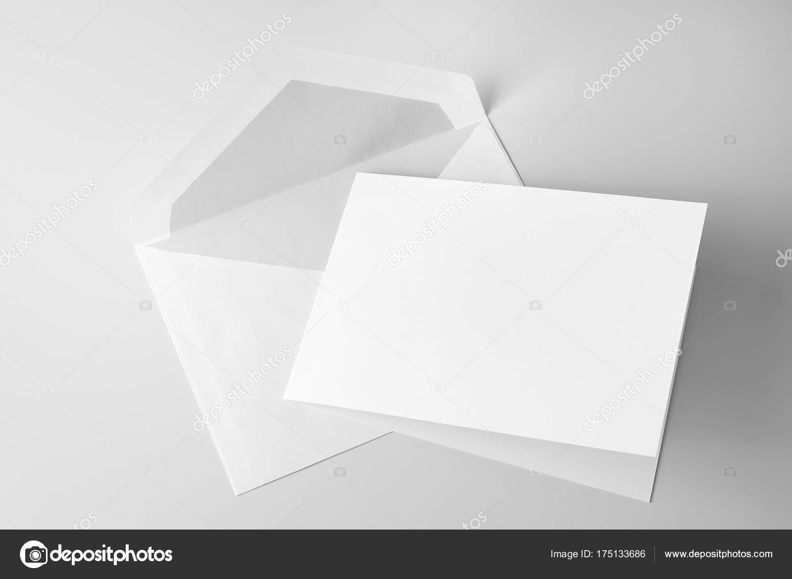 Blank greeting card envelope grey background stock photo blank greeting card and envelope over grey background photo by lindameer kristyandbryce Gallery