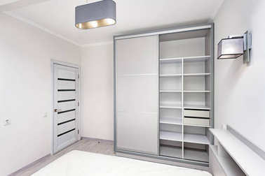 Simple white empty bedroom interior