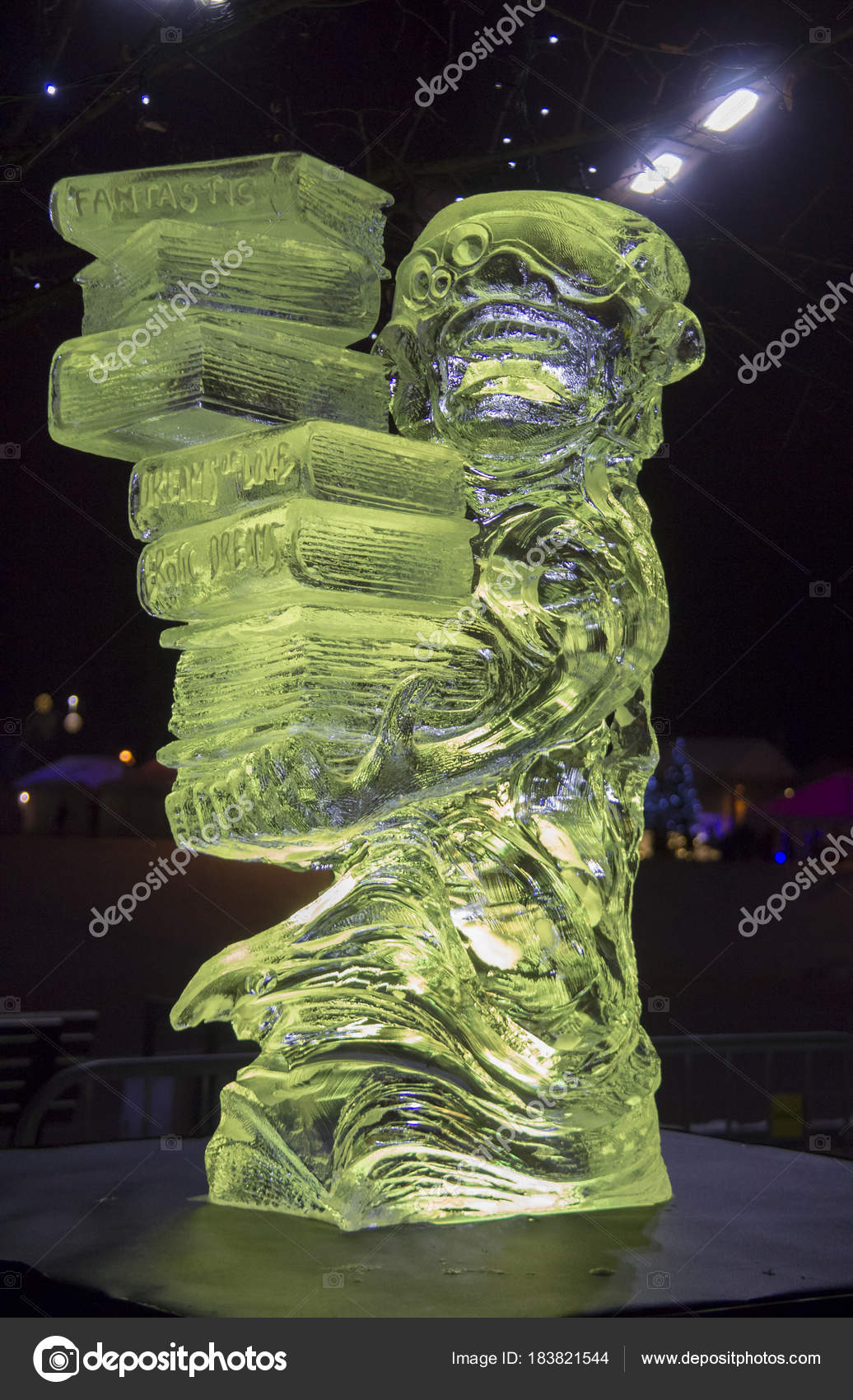 2018 20Th International Ice Sculpture Festival Jelgava Latvia