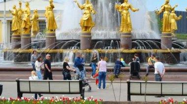 Walking at VDNKh park