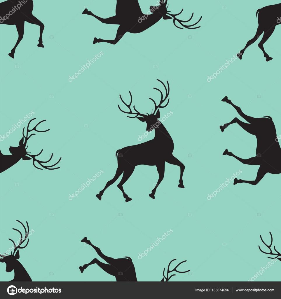 pattern of a running deer on a light green background art abstract creative modern vector