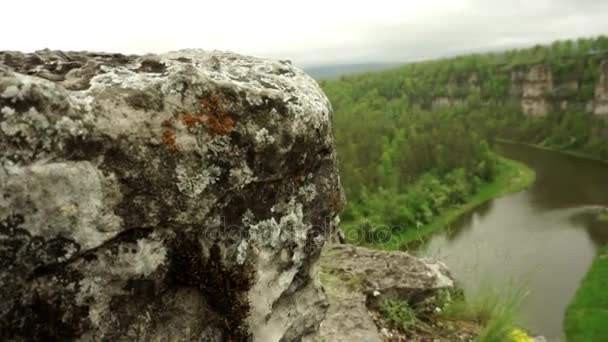 Along river and cliff and forests on Ural